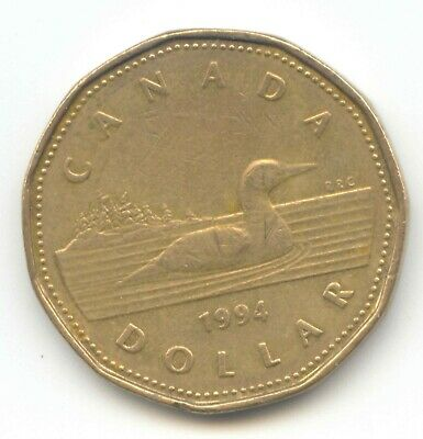 Canada 1994 Loonie Canadian One Dollar 1 $1 EXACT COIN SHOWN