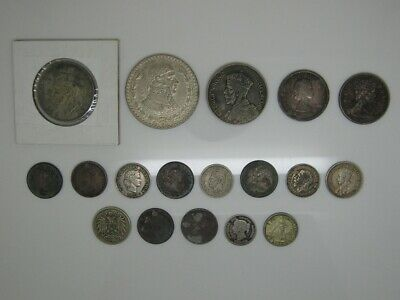 Lot Of 18 Very Nice Silver Old World Coins..Great Britain, Mexico, Canada & More