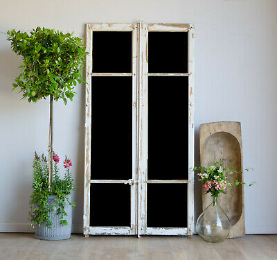 Antique French Architectural Industrial Mirrored Window Frames