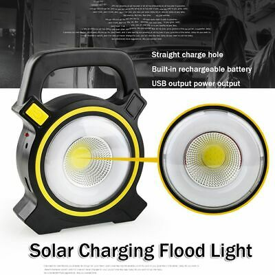 Pathway 30W Solar Rechargeable Flood Light USB Charging Portable Spot Lamp LED