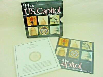 1994 U.S. Capitol Bicentennial Commemorative PROOF SILVER Dollar Coin w Brochure