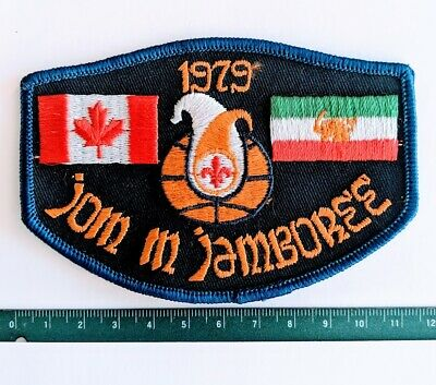 World Jamboree 1979 WJ79 Scouts Canada Join in Crest Iran Badge