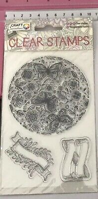 Clear Stamps ~ Butterflies, Flowers & Leaves In The Round ~ Scrolls ~ Banners
