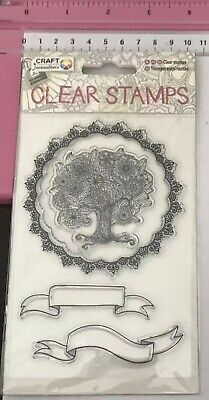 Clear Stamps ~ Beautiful Floral Tree ~ Frame ~ Banners ~