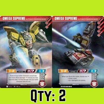 FLASH SALE _2 Rare Omega Supreme Autobot Transformers Trading Card Exclusive TCG