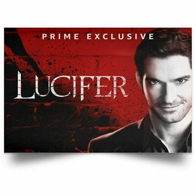 Lucifer Poster Season 4 TV series Devil Art Print 24x36 16x24