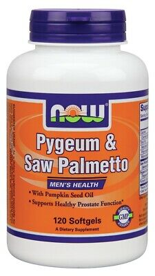 Pygeum & Saw Palmetto 25mg/80mg & Pumpkin Seed Oil Now Foods 120 Softgel