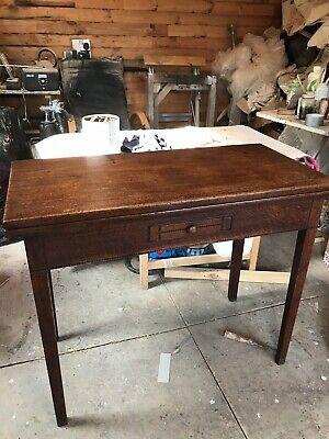 Antique Mahogany,oak Inlaid Side Console Hall Tea Table Stunning Condition