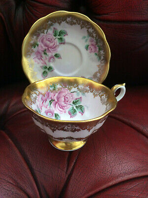 Royal Albert Portrait Series Floral China tea cup and saucer pink rose