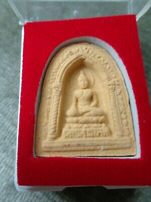 Thai Buddha Cased Amulet /  Charm Original Temple Case  /