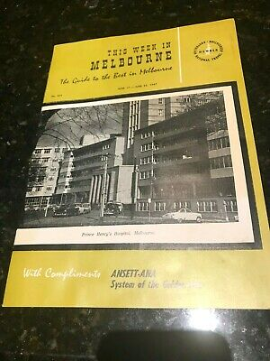This Week In Melbourne-No 422-June 17-23,1967-Ansett ANA-20 pages-Original-Rare.