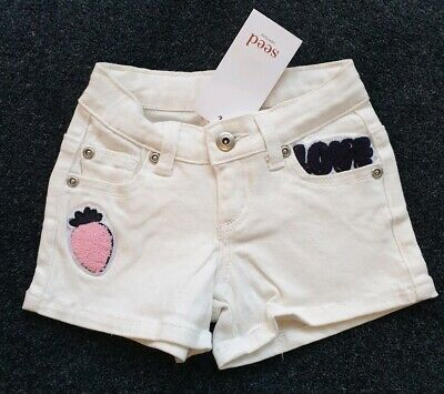 NEW Seed Heritage Denim Shorts Size 2 years old RRP$39.95 LOVE HEARTS 💕 Gift