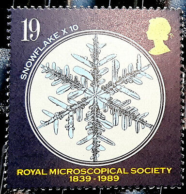 lot of 14x: Genuine POSTAGE STAMPS 19p of THE ROYAL MICROSCOPICAL SOCIETY