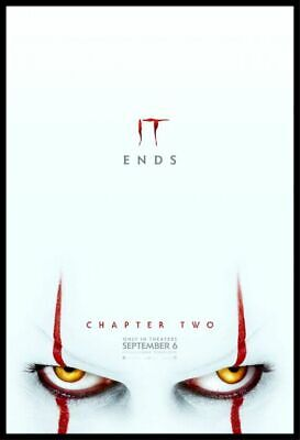"""IT CHAPTER TWO - 2019 - original 27X40 ADVANCE  """"B"""" Movie Poster - JAMES MCAVOY"""