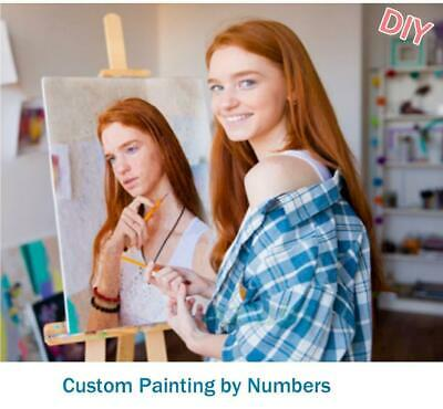 Customized DIY Oil Paint Paintings By Numbers on  Canvas Acrylic Framed avail...