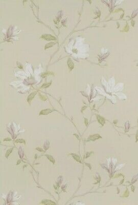 1 Roll Colefax Fowler Marchwood Wallpaper Ivory Green