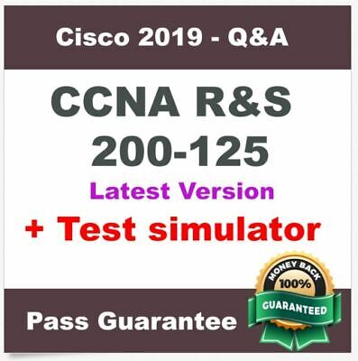 Cisco CCNA Routing and Switching 200-125 Exam Dump Q&A PDF + VCE Test Simulator