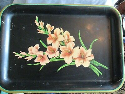 Vintage Worcester Ware Tray Breakfast Bed Gladioli Decorated