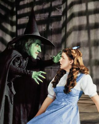 Wizard Of OZ Dorothy Gail With The Wicked Witch 8x10 Glossy Photo