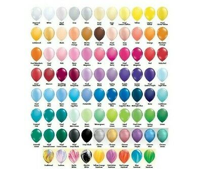 """Qualatex Latex Rubber Party Balloons 5"""" or 11"""" Plain Pearl Standard Jewel Neon"""