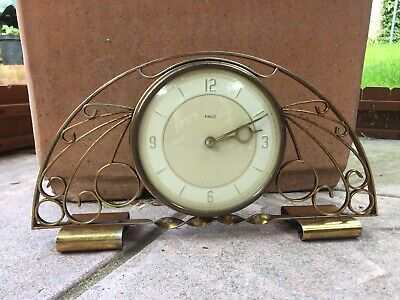 Gorgeous Vintage Midcentury Wind Up Mantelpiece Clock By Paico Scotland 🕰 Decor