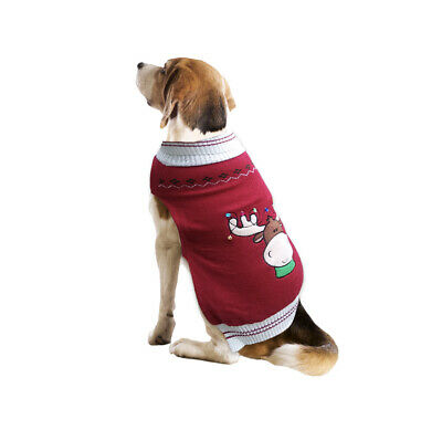 Holiday Time Ugly Moose Christmas Dog Sweater Pet Apparel New