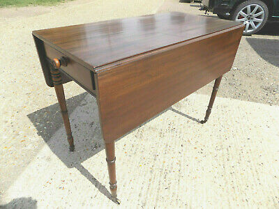 antique,victorian,mahogany,pembroke,table,drop side,extending,drawer,tall legs