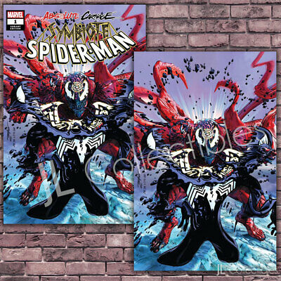 🔥 Absolute Carnage Symbiote Spider-Man #1 Mike Mayhew Trade + Virgin Variant NM