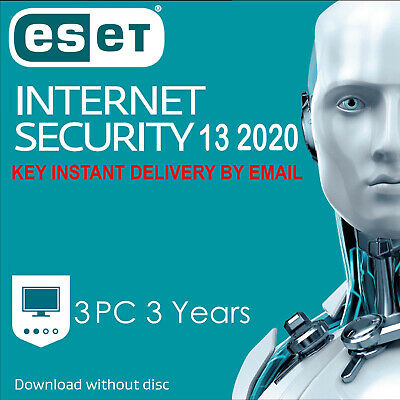ESET NOD32 Internet Security 2020 3 PC ,3 Year, GLOBAL, ESD - Instant Delivery