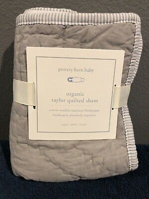 """Pottery Barn Kids Taylor Quilted 12x16"""" Sham New Elephant"""