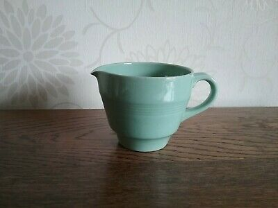 Small tea size Woods ware Beryl milk cream jug green vintage