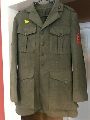US Marine Corps WWII Quartermasters Wool Trench Coat 1941-42 - Technical Sargent