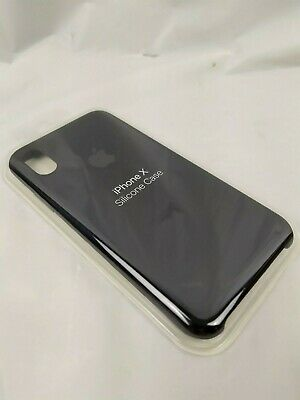 BLACK  GENUINE ORIGINAL OEM Apple Silicone Case NEW iPhone X XS RRP $39
