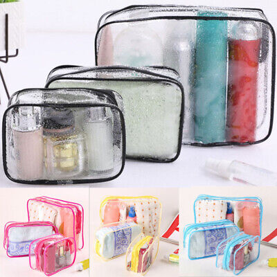 Waterproof Cosmetic Makeup Clear Wash Bag PVC Toiletry Holder Pouch Bag Travel