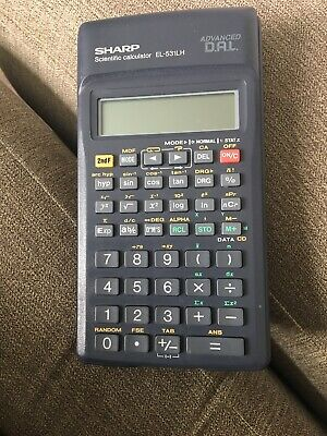SHARP EL-9900 GRAPHING Calculator with cover,Financial