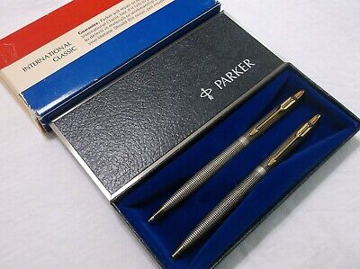 Parker 75 Classic Sterling Silver Ballpoint Pen & Pencil Set / New In Box / Usa