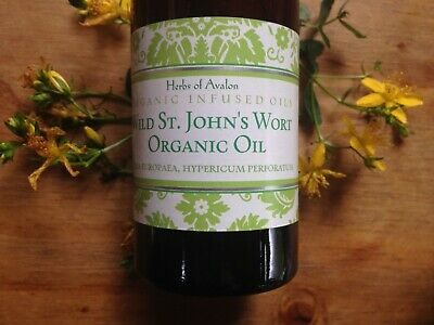 St John's Wort Oil Organic Infused - Hypericum perforatum - Wild Harvested