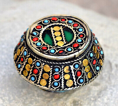 Dome Ring Tribal Ethnic Jewelry Afghan Kuchi Bohemian Carved Inlaid Gypsy Boho