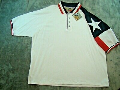 """Rockpoint Mens Texas Polo w// Embroidery /""""God Bless Texas/"""""""