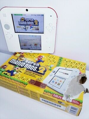 Nintendo 2DS Super Mario Bros. 2 Console With Defects (box) - Scarlet Red