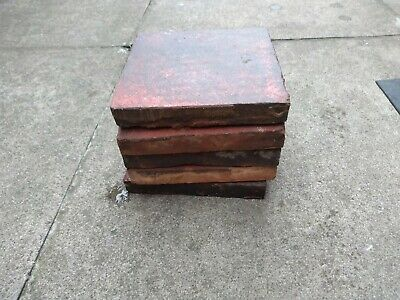 Job lot. Reclaimed Victoria quarry floor tiles (Red And Black)