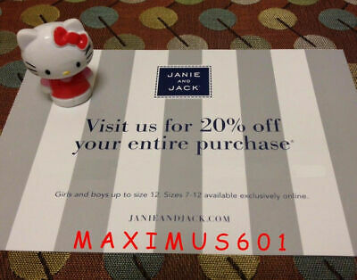 Janie and Jack 20% Off Entire Purchase Code Expires 11/01/19