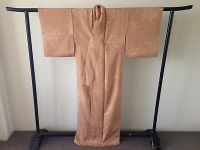 Japanese Vintage Floral Silk Kimono Costume Antique Robe Hand Made Old Kyoto