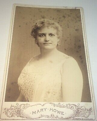 Rare Antique Victorian American Occupational Singer, Mary Howe VT Cabinet Photo!