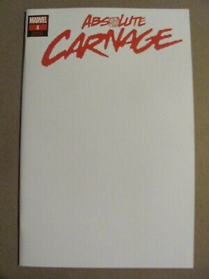 Absolute Carnage #1 Marvel 2019 Spider-Man Venom Blank Cover Variant 9.6 NM+