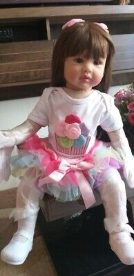 """Reborn Silicone Baby and Toddler Dolls Life Size Princess Girl Soft Body Toy 24"""""""
