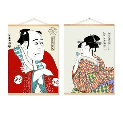 Ukiyoe Hanging Scroll Painting Canvas Posters Tapestry Wall Art Room Home Decor