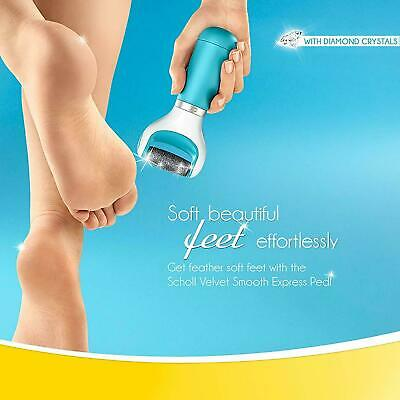 Scholl Velvet Smooth Express Pedi Foot File with Diamond Crystals