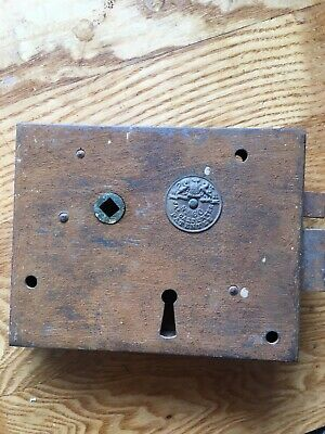 J A Carpenter Antique No 60 Door Rim lock 1800s