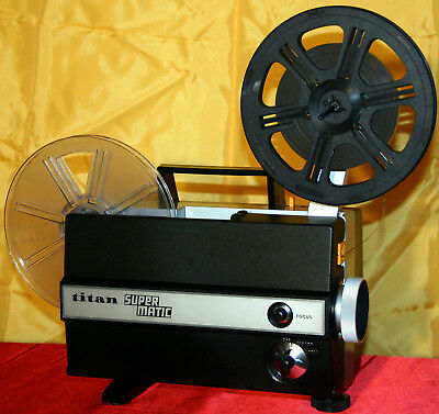 SUPER 8mm SILENT MOVIE PROJECTOR  TITAN SUPERMATIC  FULLY SERVICED EXCELLENT A1